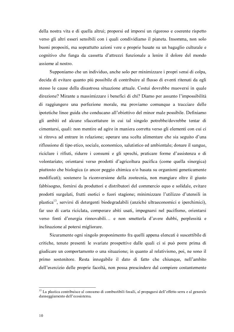 Anteprima della tesi: La scelta vegana e la nuova idea di rispetto della biosfera, Pagina 6