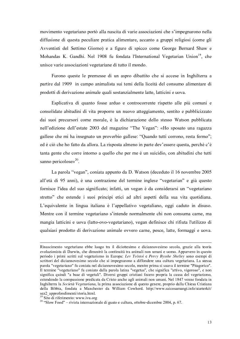 Anteprima della tesi: La scelta vegana e la nuova idea di rispetto della biosfera, Pagina 9