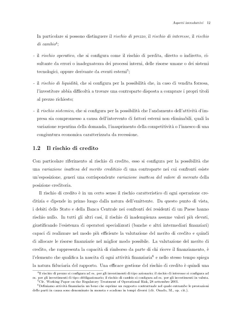 Anteprima della tesi: Misurazione e Controllo del Rischio di Credito, Pagina 1
