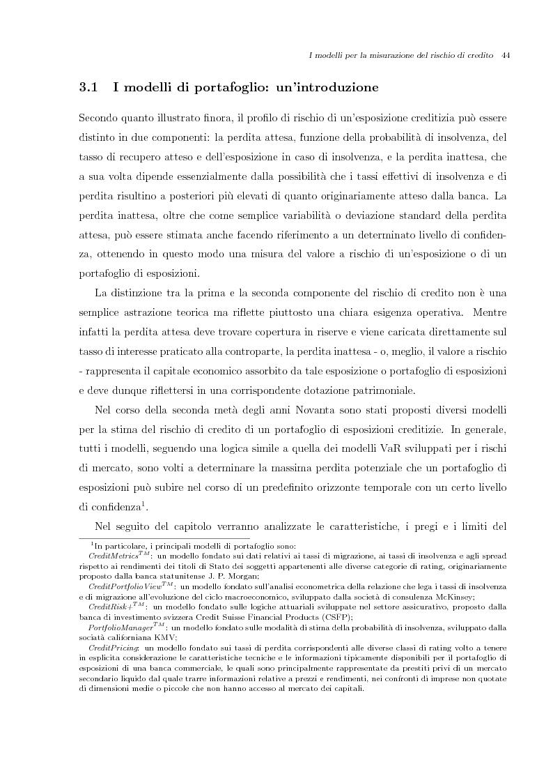 Anteprima della tesi: Misurazione e Controllo del Rischio di Credito, Pagina 6