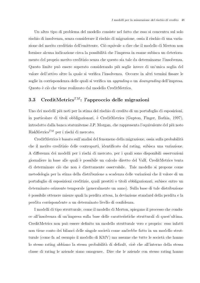 Anteprima della tesi: Misurazione e Controllo del Rischio di Credito, Pagina 7