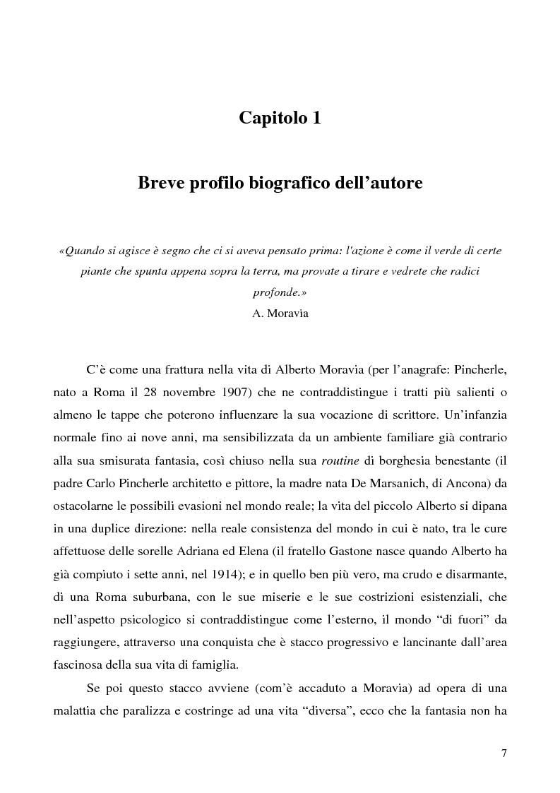 Anteprima della tesi: Agostino di Alberto Moravia, Pagina 4