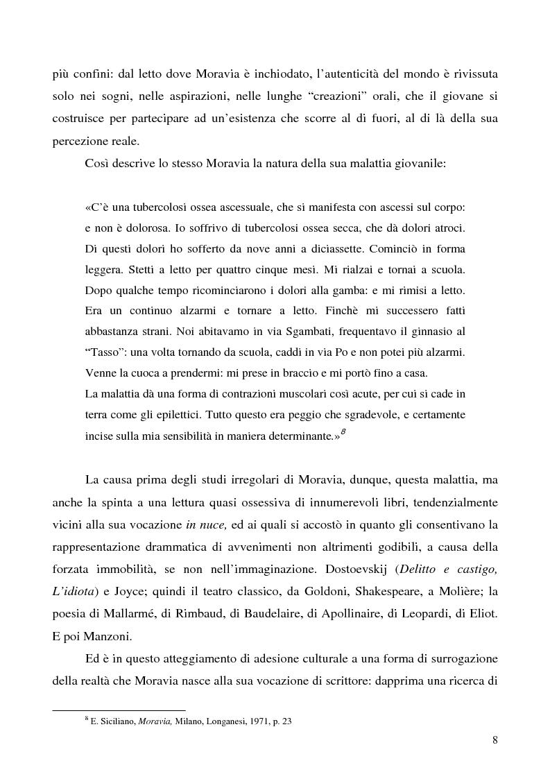 Anteprima della tesi: Agostino di Alberto Moravia, Pagina 5