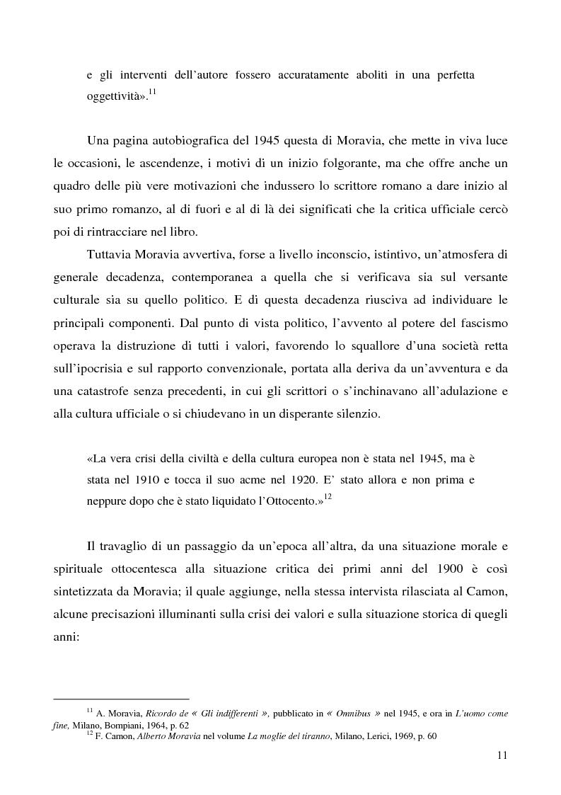 Anteprima della tesi: Agostino di Alberto Moravia, Pagina 8