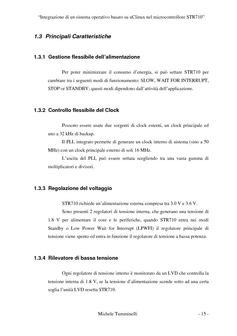 Anteprima della tesi: Integrazione di un sistema operativo basato su μClinux nel microcontrollore STR710, Pagina 10
