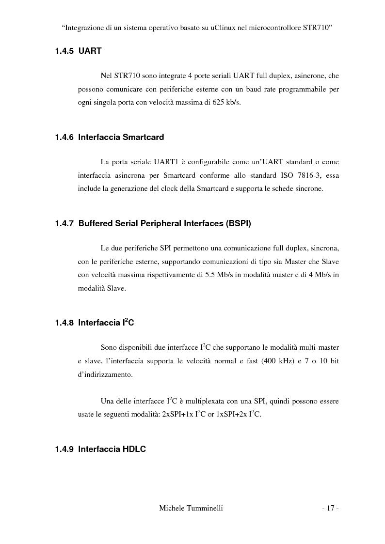 Anteprima della tesi: Integrazione di un sistema operativo basato su μClinux nel microcontrollore STR710, Pagina 12