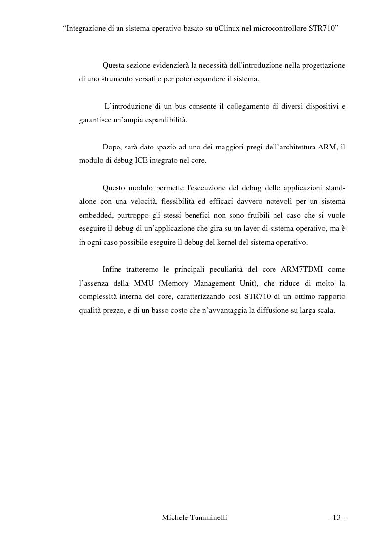 Anteprima della tesi: Integrazione di un sistema operativo basato su μClinux nel microcontrollore STR710, Pagina 8