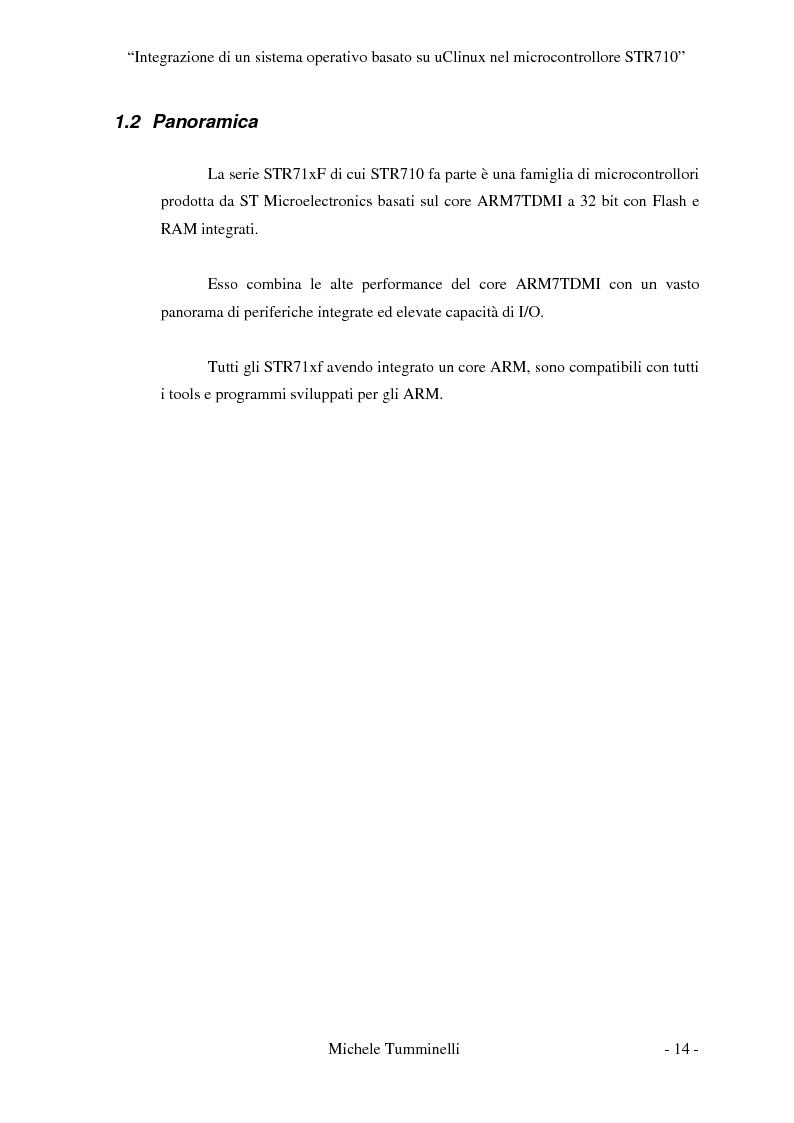 Anteprima della tesi: Integrazione di un sistema operativo basato su μClinux nel microcontrollore STR710, Pagina 9
