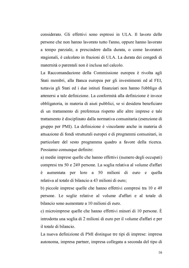 Anteprima della tesi: Basilea2 e la nuova cultura del rating: conseguenze sulle PMI, Pagina 10