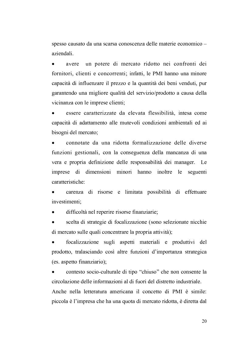 Anteprima della tesi: Basilea2 e la nuova cultura del rating: conseguenze sulle PMI, Pagina 14
