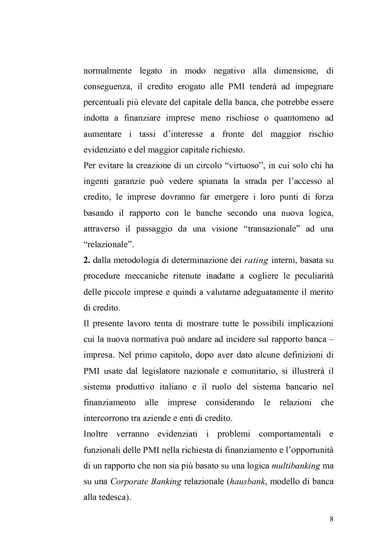 Anteprima della tesi: Basilea2 e la nuova cultura del rating: conseguenze sulle PMI, Pagina 2