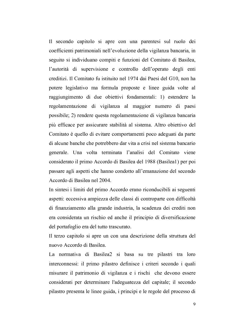 Anteprima della tesi: Basilea2 e la nuova cultura del rating: conseguenze sulle PMI, Pagina 3