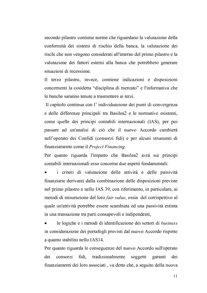 Anteprima della tesi: Basilea2 e la nuova cultura del rating: conseguenze sulle PMI, Pagina 5