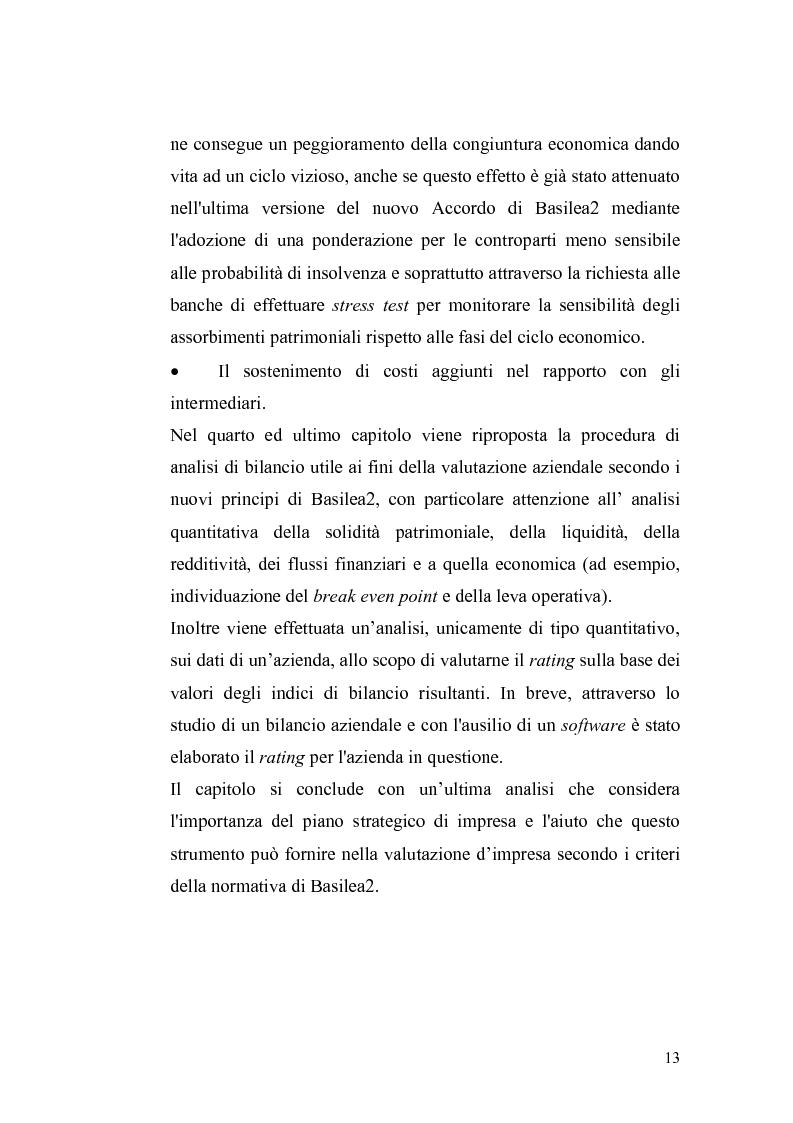 Anteprima della tesi: Basilea2 e la nuova cultura del rating: conseguenze sulle PMI, Pagina 7