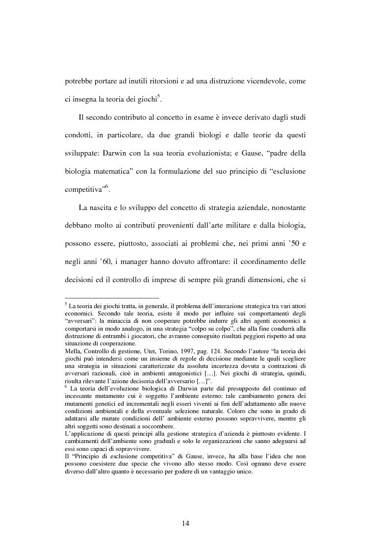 Anteprima della tesi: Dal controllo di gestione al controllo strategico: il caso Sorin Biomedica SPA, Pagina 11
