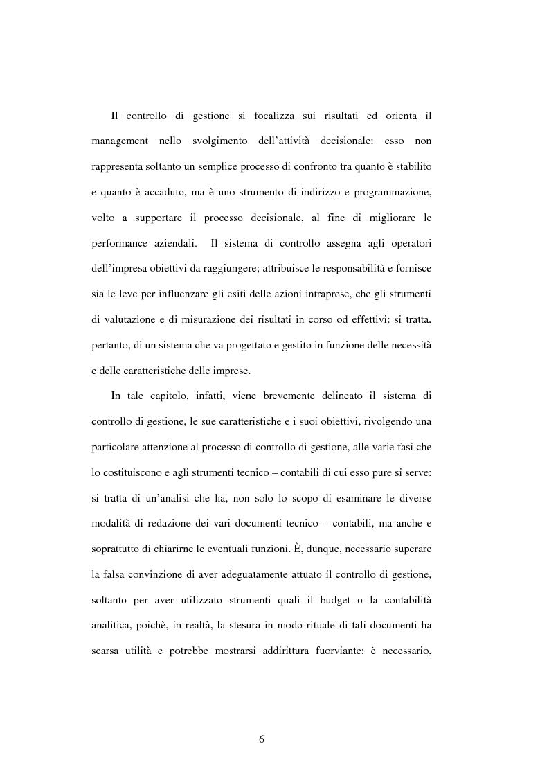 Anteprima della tesi: Dal controllo di gestione al controllo strategico: il caso Sorin Biomedica SPA, Pagina 3