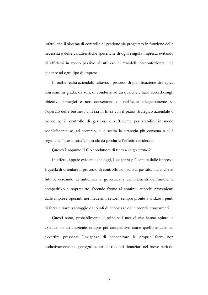 Anteprima della tesi: Dal controllo di gestione al controllo strategico: il caso Sorin Biomedica SPA, Pagina 4
