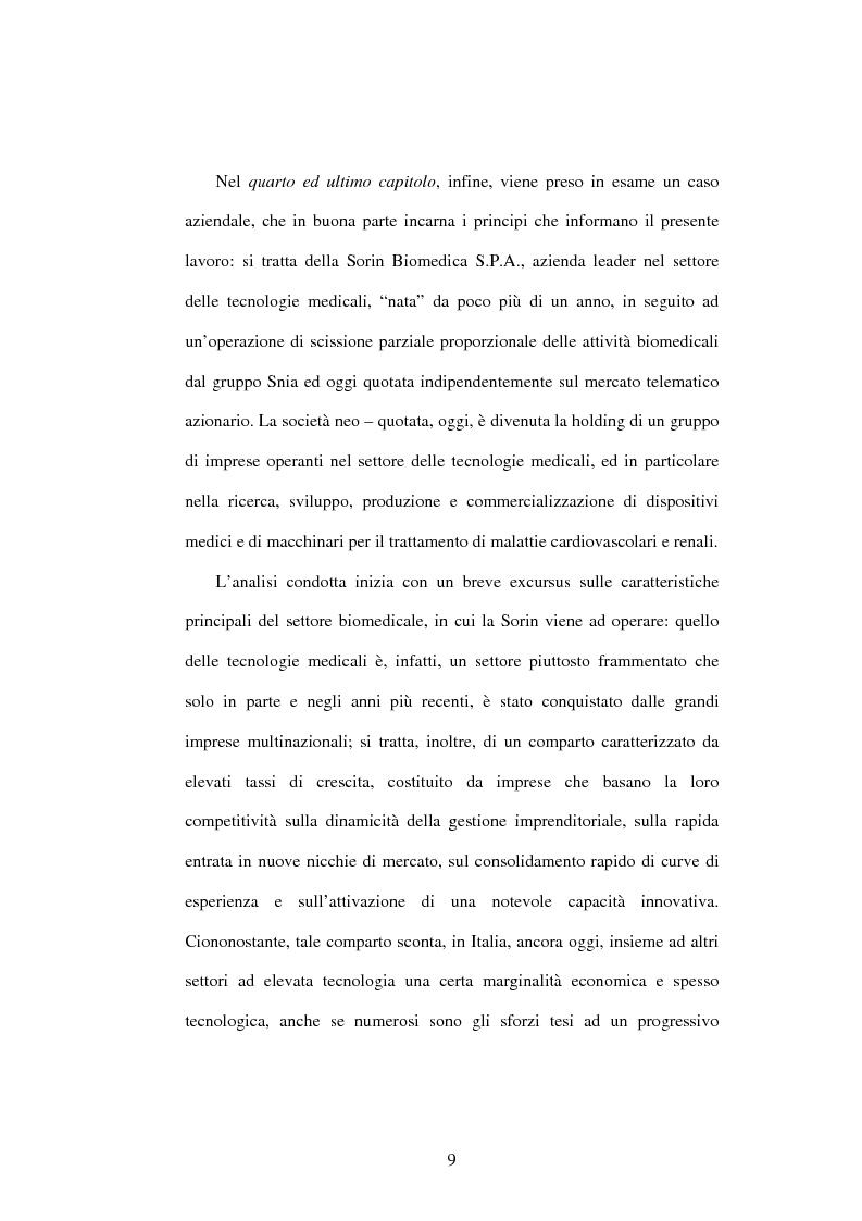 Anteprima della tesi: Dal controllo di gestione al controllo strategico: il caso Sorin Biomedica SPA, Pagina 6