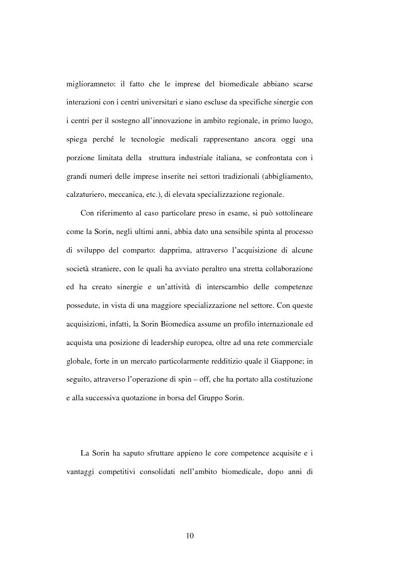 Anteprima della tesi: Dal controllo di gestione al controllo strategico: il caso Sorin Biomedica SPA, Pagina 7