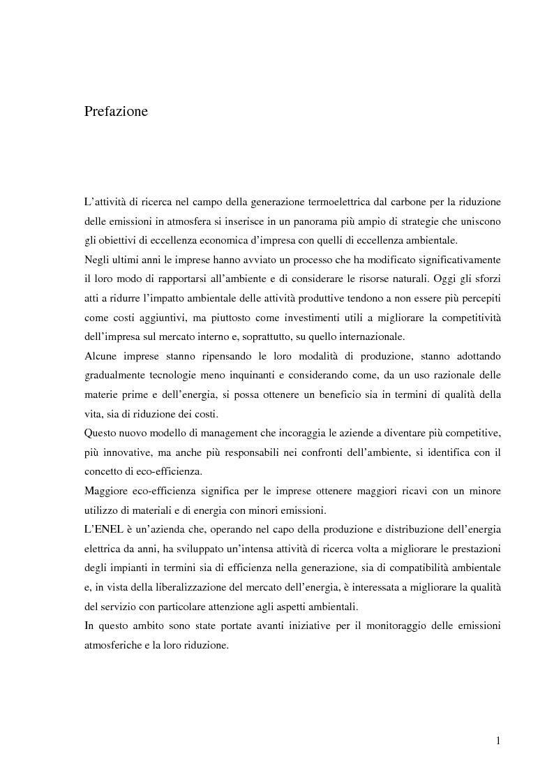 Anteprima della tesi: Effetto delle condizioni di pirolisi di combustibili solidi sulla formazione di specie azotate ed idrocarburiche di interesse ambientale, Pagina 1