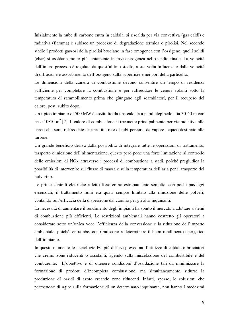 Anteprima della tesi: Effetto delle condizioni di pirolisi di combustibili solidi sulla formazione di specie azotate ed idrocarburiche di interesse ambientale, Pagina 6
