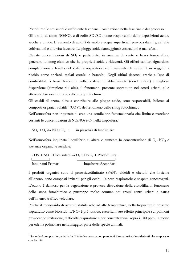 Anteprima della tesi: Effetto delle condizioni di pirolisi di combustibili solidi sulla formazione di specie azotate ed idrocarburiche di interesse ambientale, Pagina 8