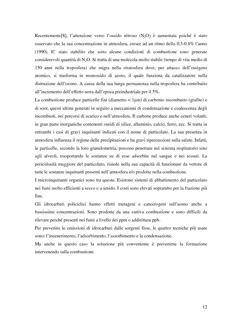 Anteprima della tesi: Effetto delle condizioni di pirolisi di combustibili solidi sulla formazione di specie azotate ed idrocarburiche di interesse ambientale, Pagina 9