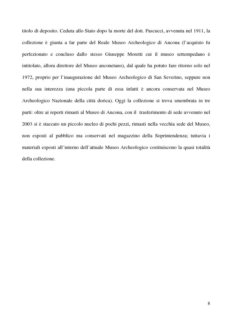 Anteprima della tesi: Raccolta Epigrafica Comunale e Collezione Pascucci: i nuclei storici del Museo Civico Archeologico di San Severino Marche, Pagina 3