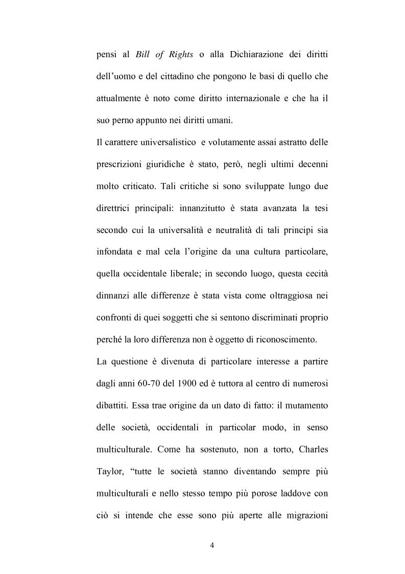 Anteprima della tesi: Identità culturale e fondazione dei diritti, Pagina 3