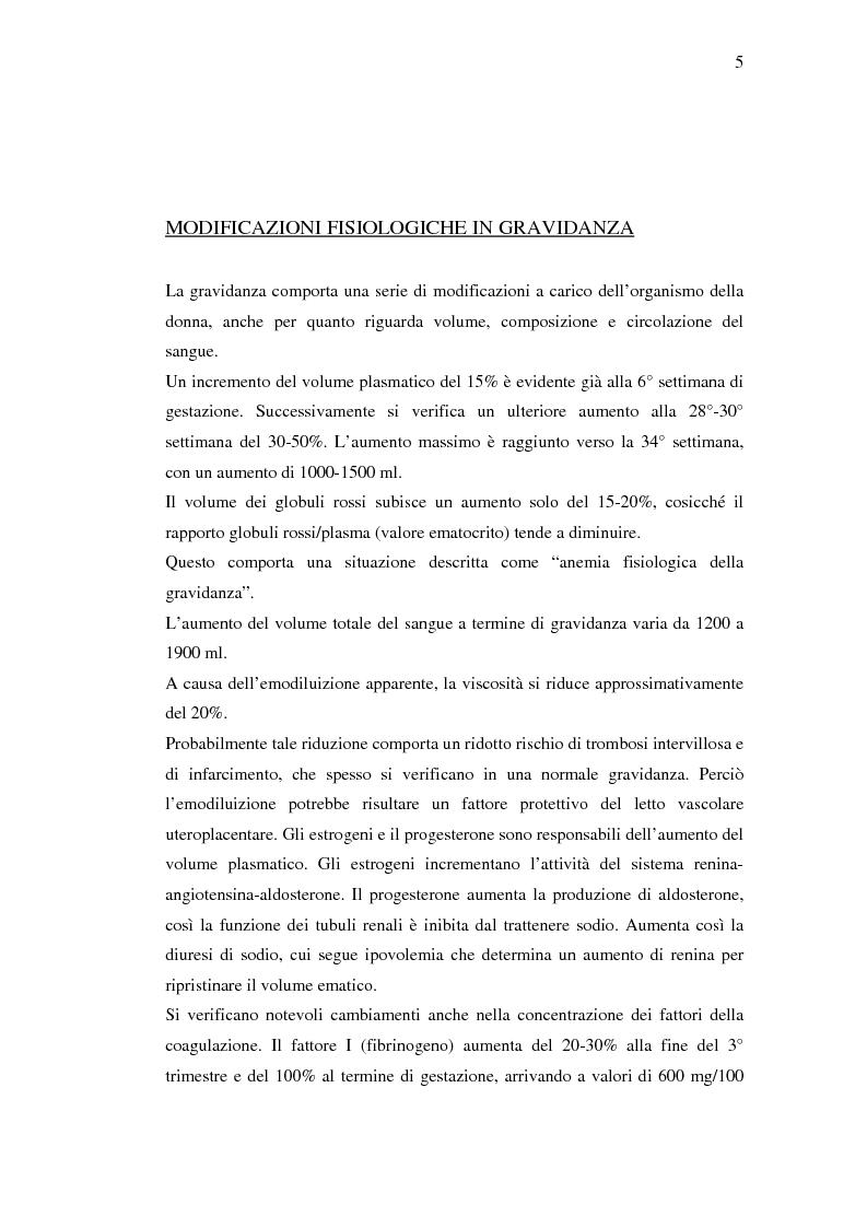Anteprima della tesi: Nuovi trattamenti dell'atonia postpartum. Studio clinico di 7 pazienti con emorragia severa intrapartum, Pagina 3