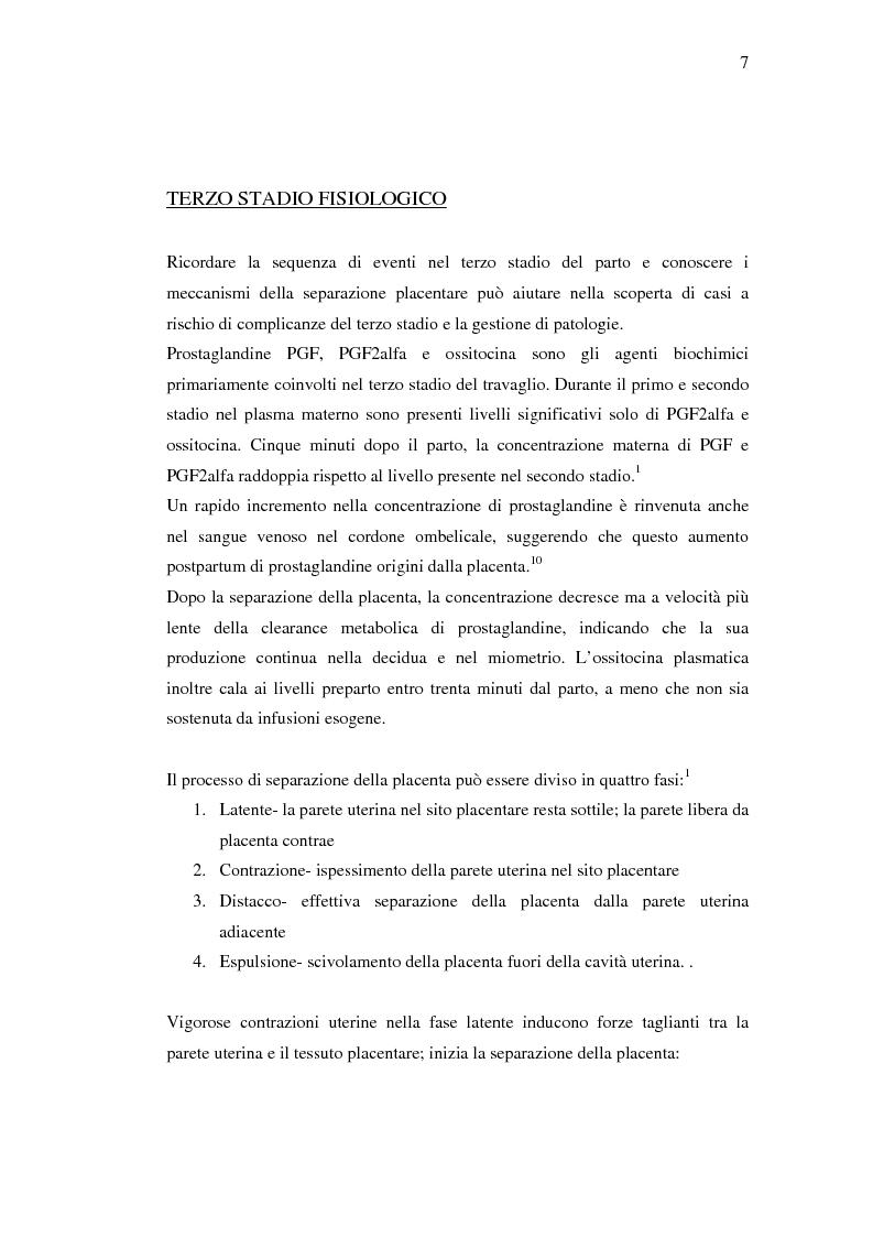 Anteprima della tesi: Nuovi trattamenti dell'atonia postpartum. Studio clinico di 7 pazienti con emorragia severa intrapartum, Pagina 5