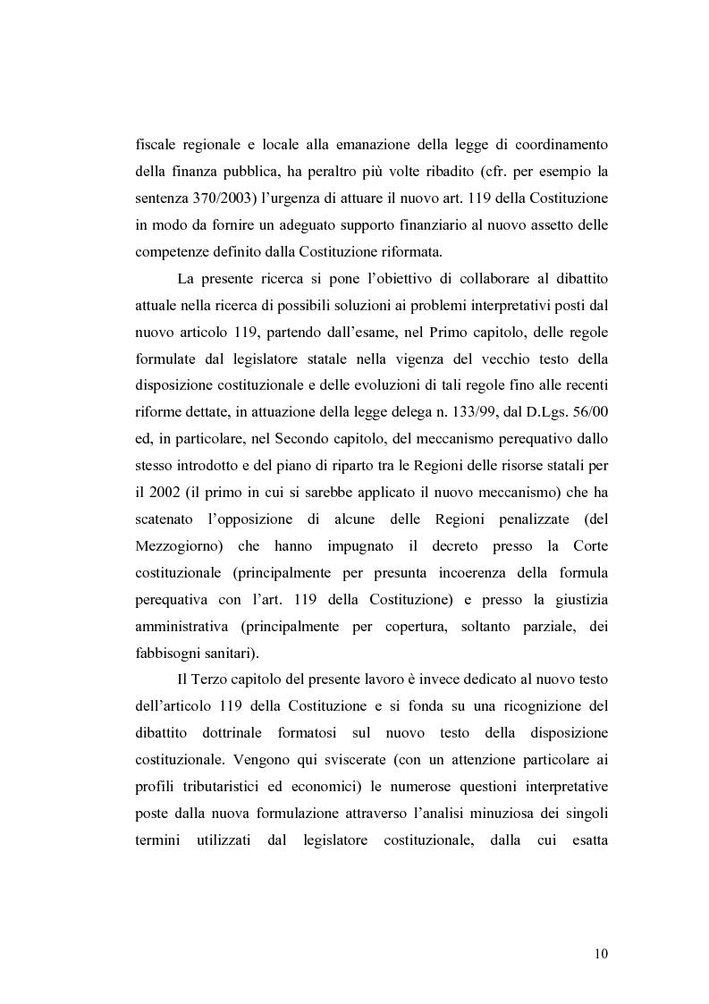 Anteprima della tesi: L'attuazione del federalismo fiscale: il contributo della Corte Costituzionale, Pagina 6