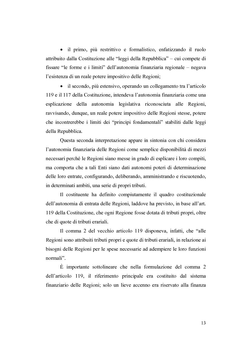 Anteprima della tesi: L'attuazione del federalismo fiscale: il contributo della Corte Costituzionale, Pagina 9