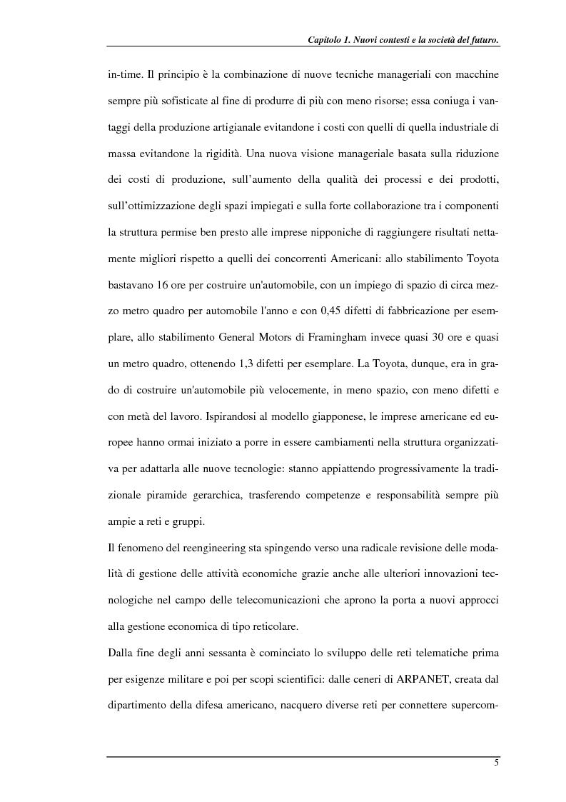 Anteprima della tesi: Nuove prospettive per il telelavoro: analisi dei principali progetti per la pubblica amministrazione, Pagina 10