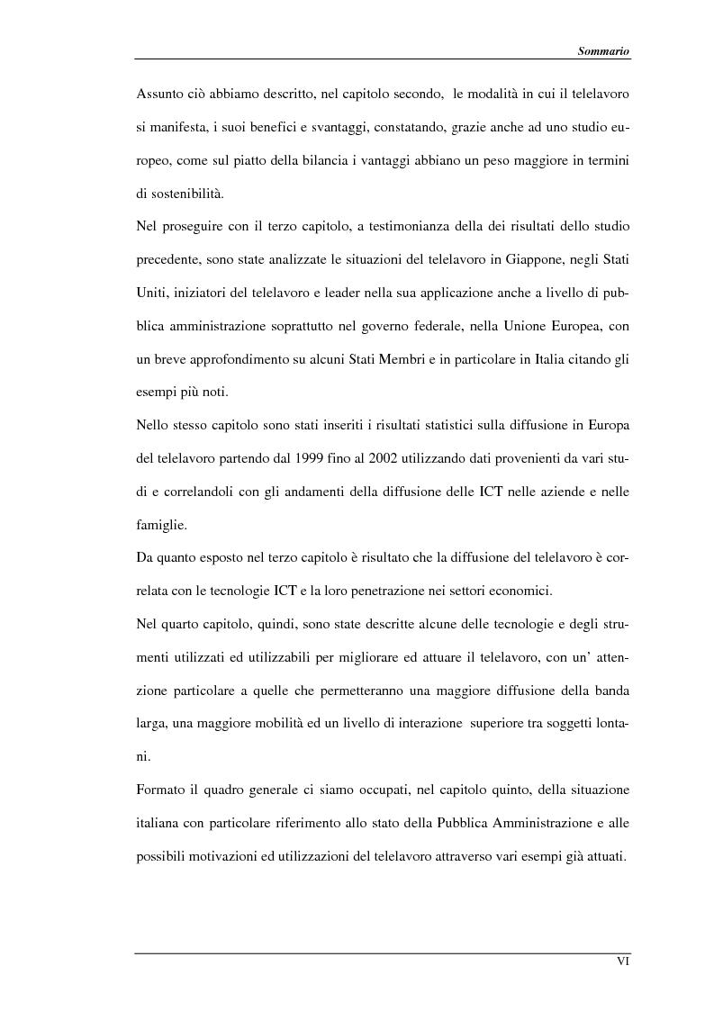 Anteprima della tesi: Nuove prospettive per il telelavoro: analisi dei principali progetti per la pubblica amministrazione, Pagina 3