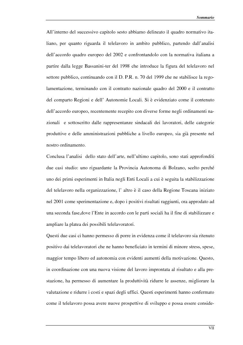 Anteprima della tesi: Nuove prospettive per il telelavoro: analisi dei principali progetti per la pubblica amministrazione, Pagina 4