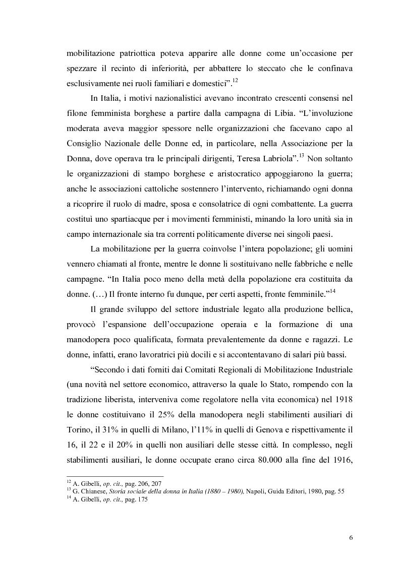 Anteprima della tesi: La figura della donna attraverso l'analisi di due riviste femminili del periodo fascista: Il Giornale delle Donne e La Donna, 1921-1935, Pagina 11