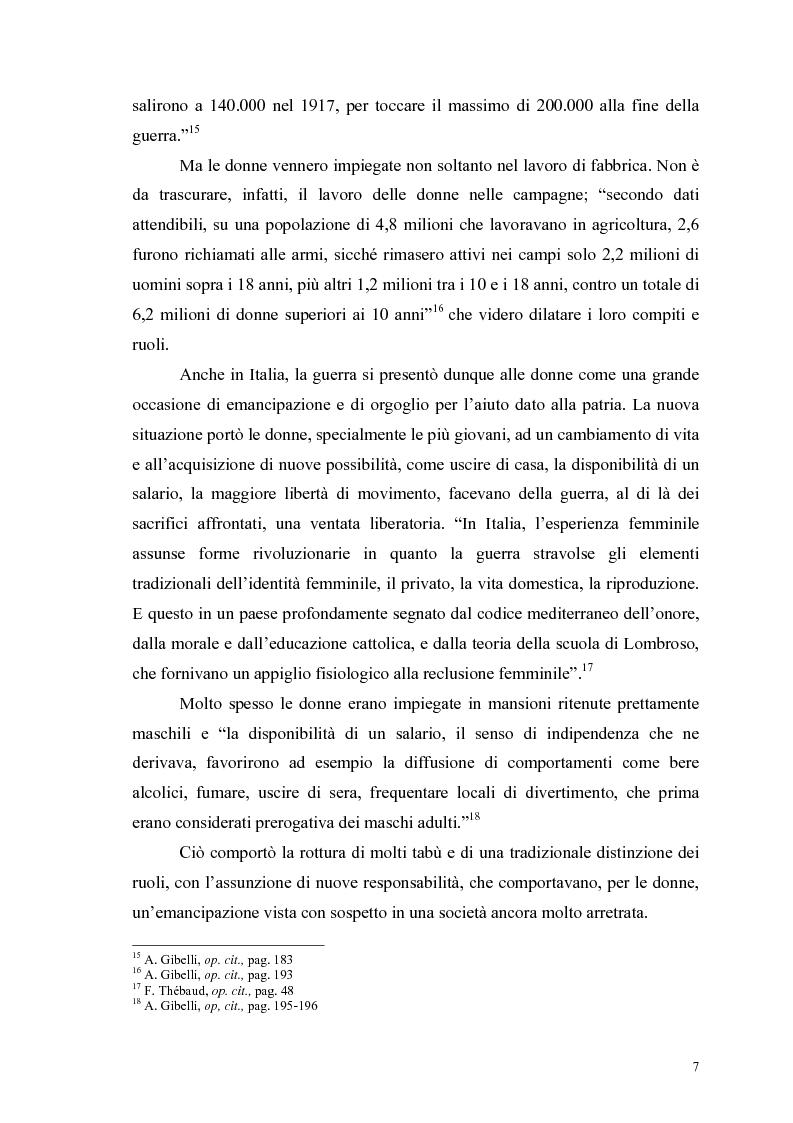 Anteprima della tesi: La figura della donna attraverso l'analisi di due riviste femminili del periodo fascista: Il Giornale delle Donne e La Donna, 1921-1935, Pagina 12