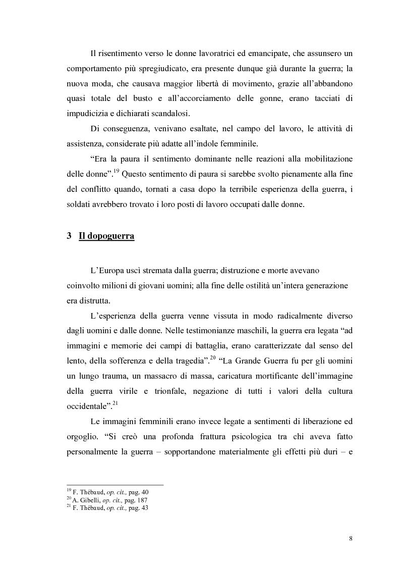 Anteprima della tesi: La figura della donna attraverso l'analisi di due riviste femminili del periodo fascista: Il Giornale delle Donne e La Donna, 1921-1935, Pagina 13