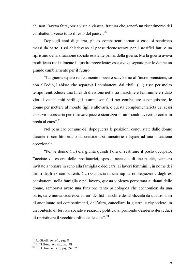 Anteprima della tesi: La figura della donna attraverso l'analisi di due riviste femminili del periodo fascista: Il Giornale delle Donne e La Donna, 1921-1935, Pagina 14
