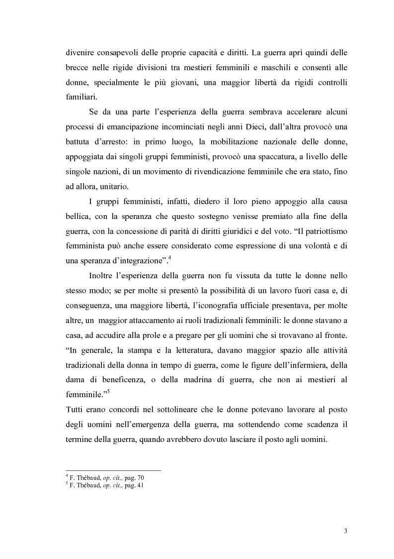 Anteprima della tesi: La figura della donna attraverso l'analisi di due riviste femminili del periodo fascista: Il Giornale delle Donne e La Donna, 1921-1935, Pagina 8