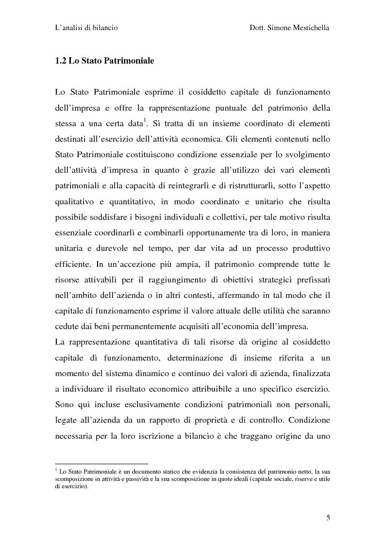 Anteprima della tesi: L'analisi di bilancio e il caso Cementir SpA, Pagina 3