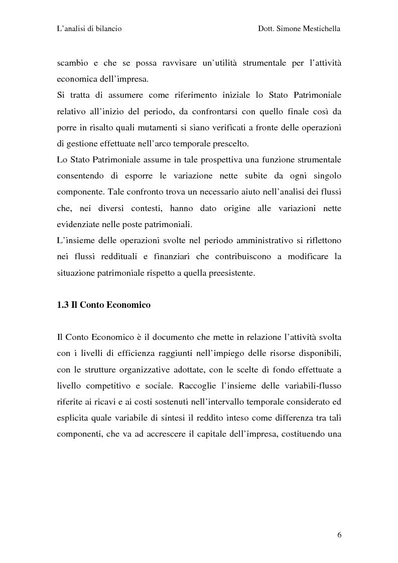 Anteprima della tesi: L'analisi di bilancio e il caso Cementir SpA, Pagina 4