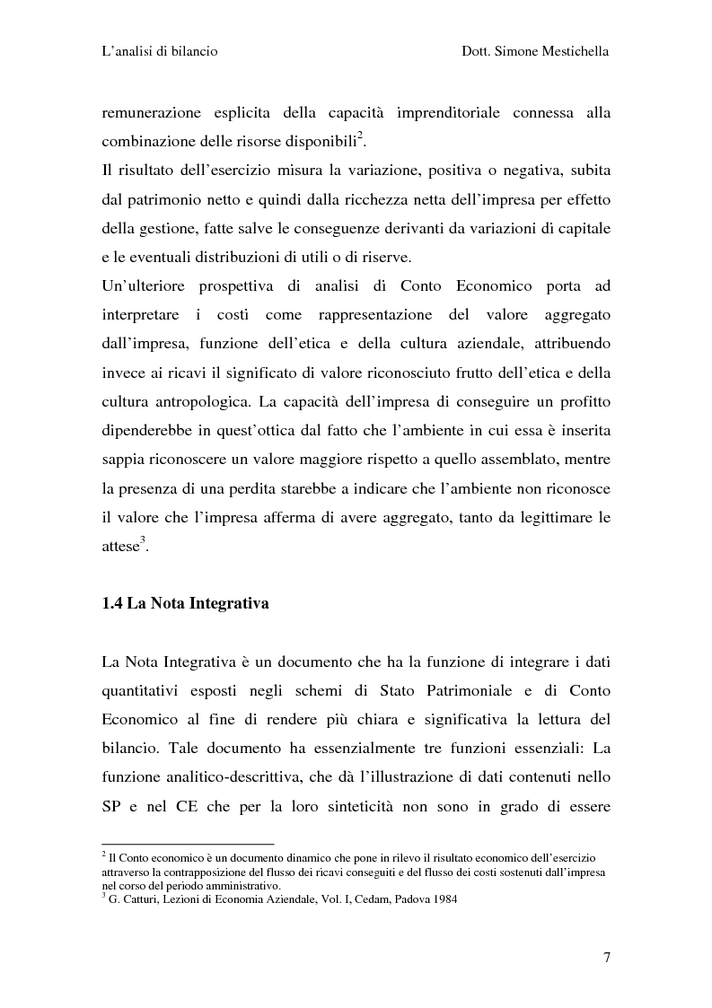Anteprima della tesi: L'analisi di bilancio e il caso Cementir SpA, Pagina 5