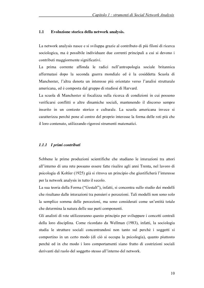 Anteprima della tesi: Applicazione di temi di analisi dei network alle filiere innovative, Pagina 10