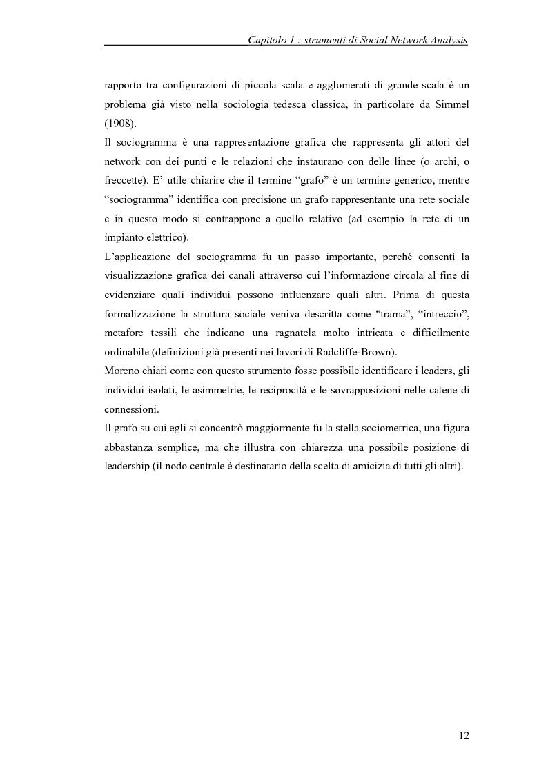 Anteprima della tesi: Applicazione di temi di analisi dei network alle filiere innovative, Pagina 12