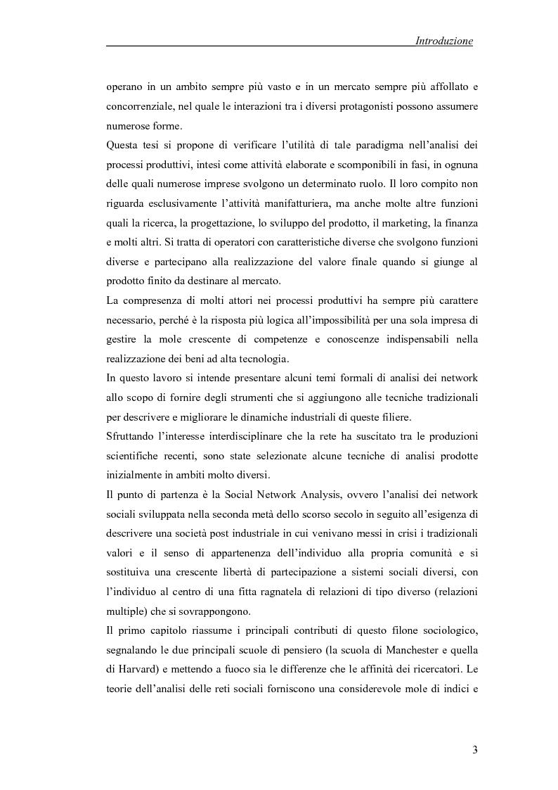 Anteprima della tesi: Applicazione di temi di analisi dei network alle filiere innovative, Pagina 3