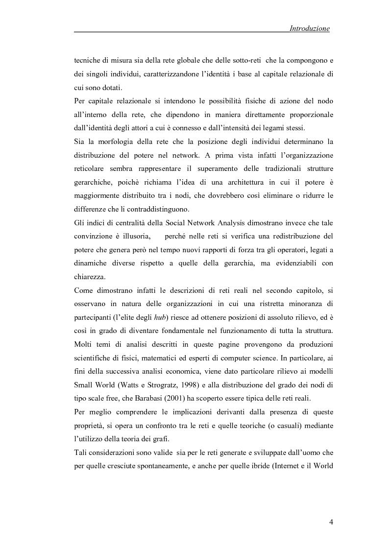 Anteprima della tesi: Applicazione di temi di analisi dei network alle filiere innovative, Pagina 4