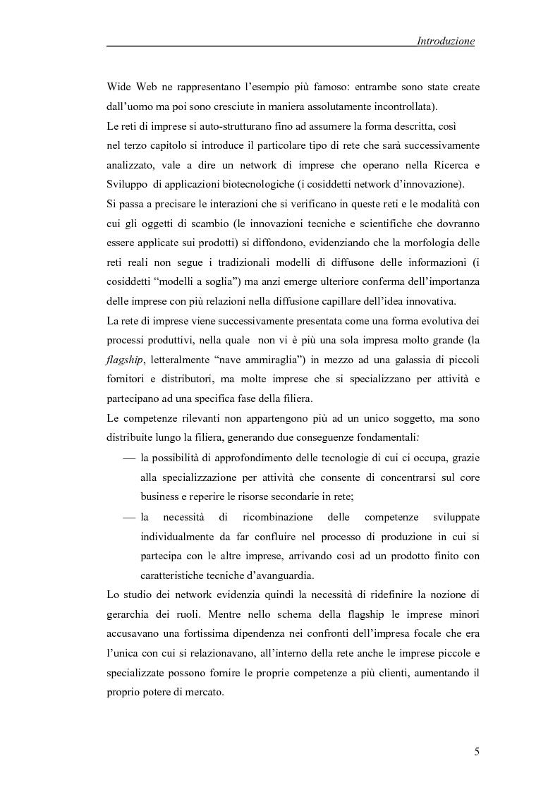 Anteprima della tesi: Applicazione di temi di analisi dei network alle filiere innovative, Pagina 5