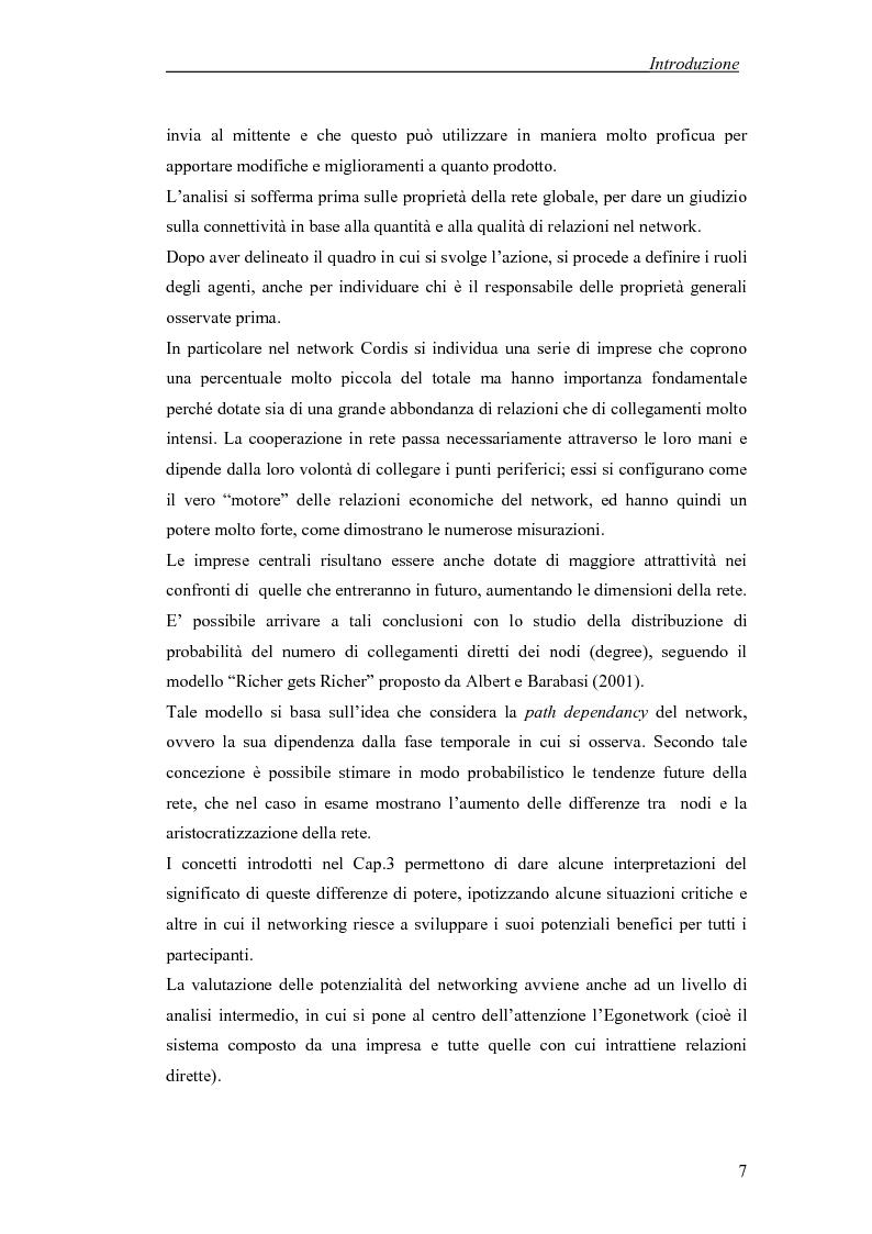 Anteprima della tesi: Applicazione di temi di analisi dei network alle filiere innovative, Pagina 7